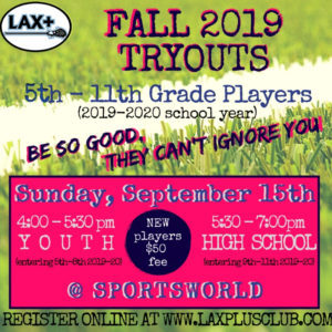FALL 2019 tryouts